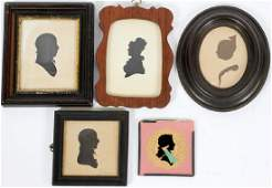 FRAMED HOLLOWCUT  CUT OUT SILHOUETTE PORTRAITS