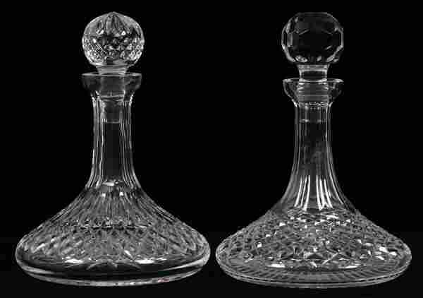 WATERFORD CRYSTAL SHIP DECANTERS, TWO