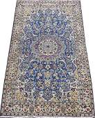PERSIAN NAIN HANDWOVEN WOOL AND SILK RUG