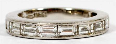 LADY'S PLATINUM AND DIAMOND WEDDING RING