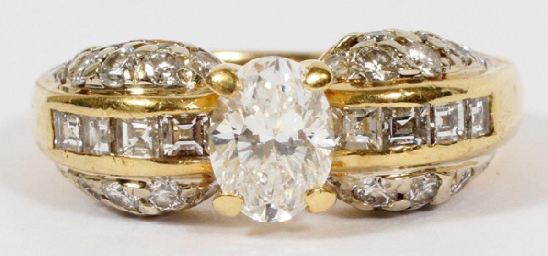 DIAMOND ENGAGEMENT RING, 18KT YELLOW GOLD