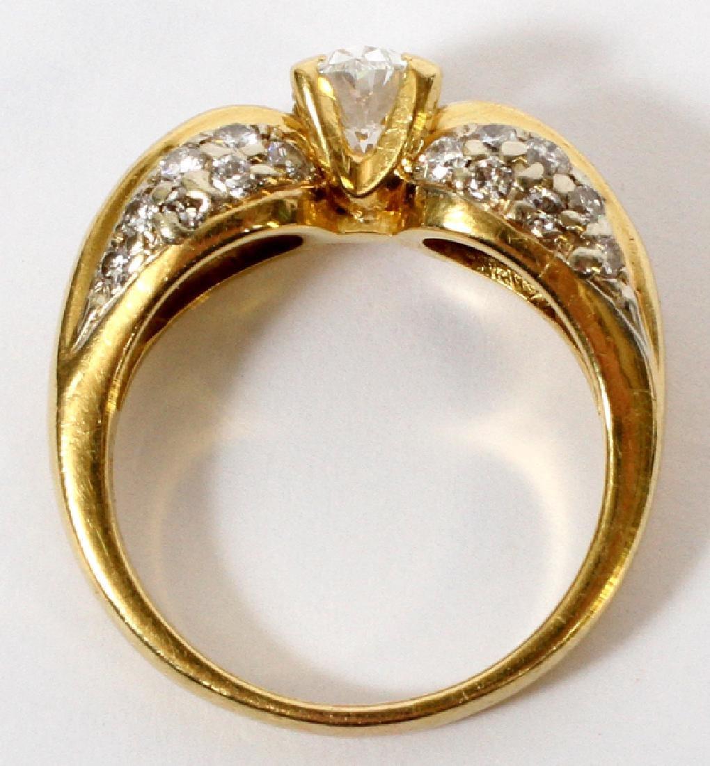 DIAMOND ENGAGEMENT RING, 18KT YELLOW GOLD - 3