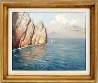 MICHELE FEDERICO OIL ON BOARD COAST OF CAPRI