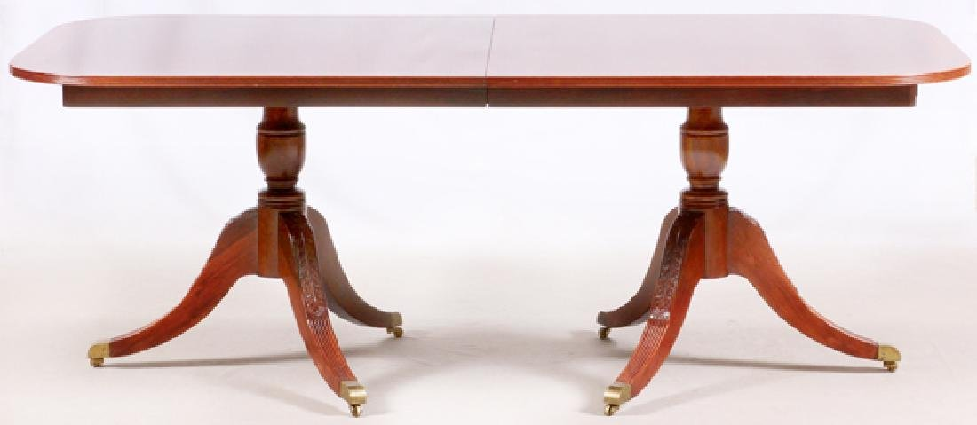 HICKORY CHAIR CO. MAHOGANY DINING TABLE