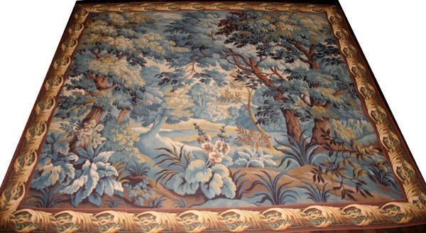 """040027: FOREST SCENE TAPESTRY, 5'10""""x6'6"""""""