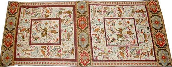 """040028: EGYPTIAN STYLE TAPESTRY, C.1945, 2'5""""x6'0"""""""