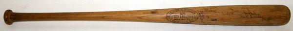 """040106: 1940 DETROIT TIGERS TEAM SIGNED BAT L35"""""""