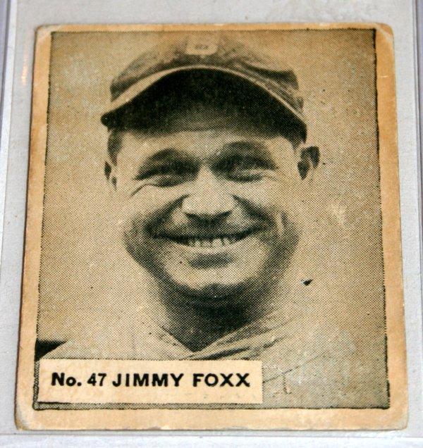 040134: BIG LEAGUE GUM JIMMY FOXX #47 BASEBALL CARD