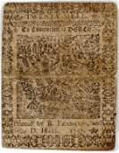 041312: 20 SHILL PRINTED BY B. FRANKLIN 1757