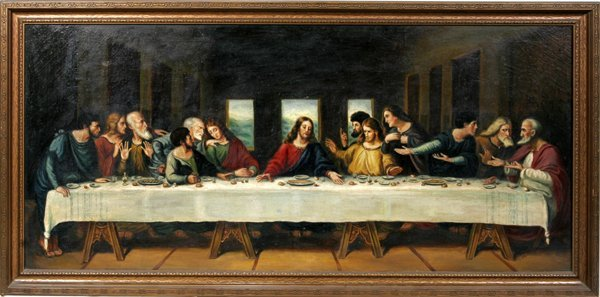 042011: JOSEPH M. KAVANAGH OIL ON CANVAS, LAST SUPPER