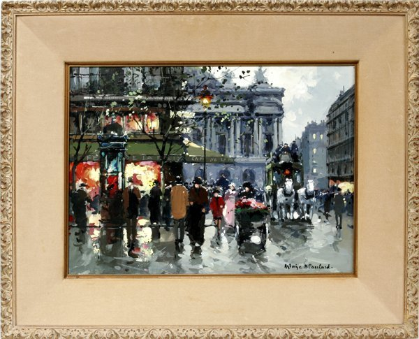 042012: ANTOINE BLANCHARD OIL ON CANVAS, PARIS STREET