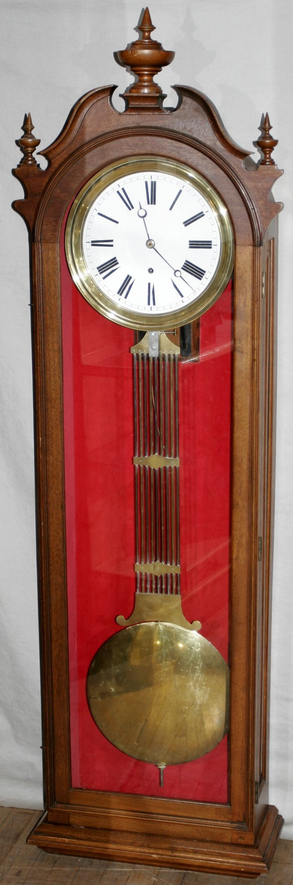 042021: VICTORIAN MAHOGANY GRANDMOTHER CLOCK