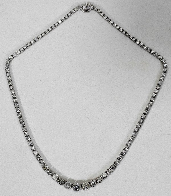 042023: 16.1CT. DIAMOND TENNIS NECKLACE, L16""