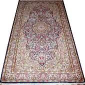 042091 KERMAN WOOL PERSIAN ORIENTAL RUG 73x4