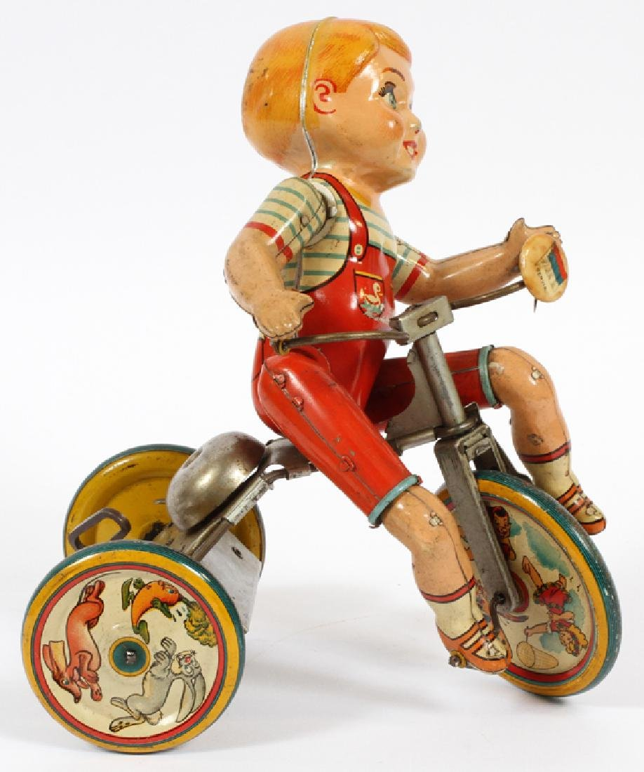 UNIQUE ART WIND-UP TIN TOY CIRCA 1950 - 2