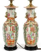 CHINESE PORCELAIN VASES MOUNTED AS LAMPS
