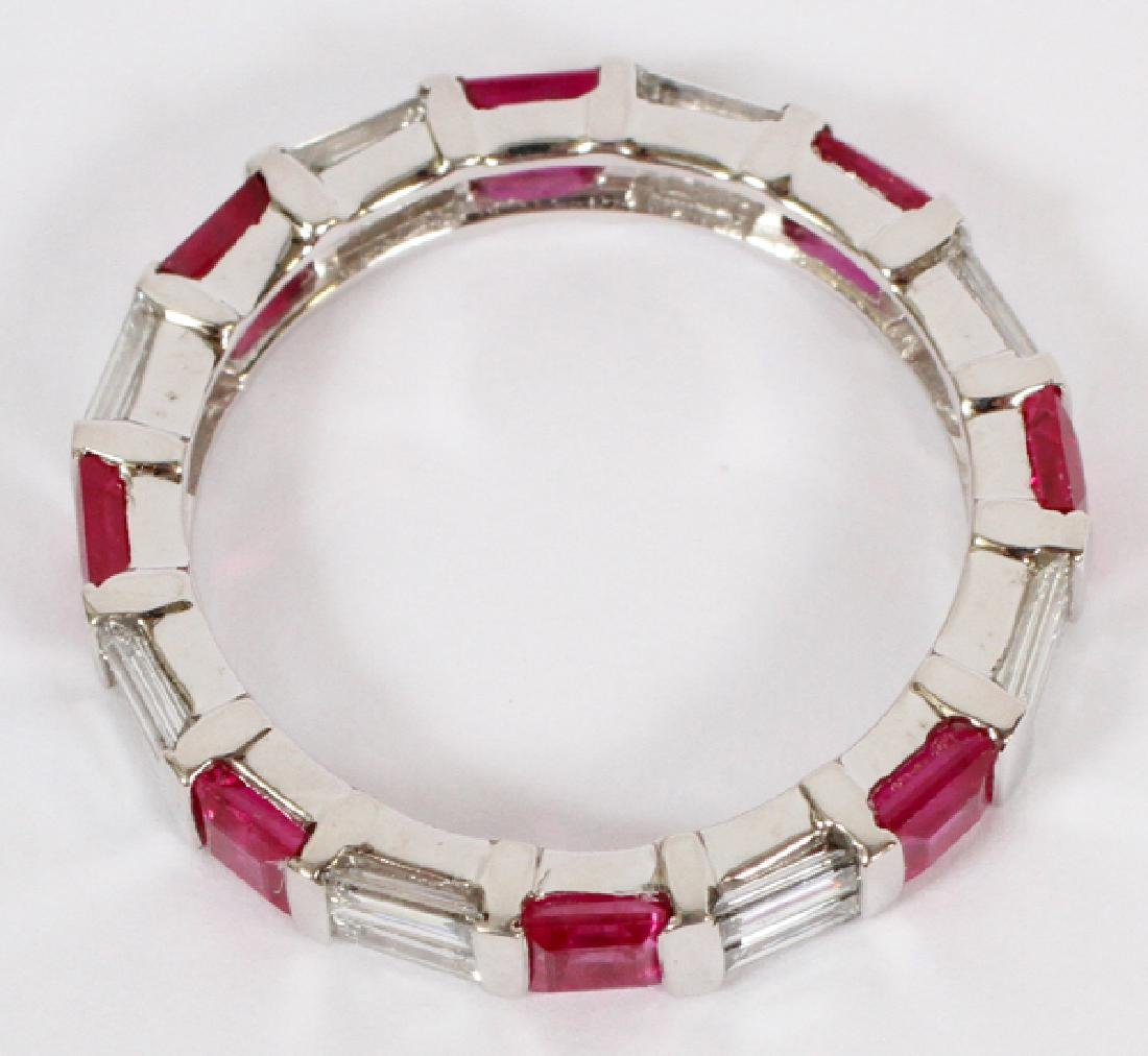 RUBY, DIAMOND, & 14KT GOLD, ETERNITY RING - 2