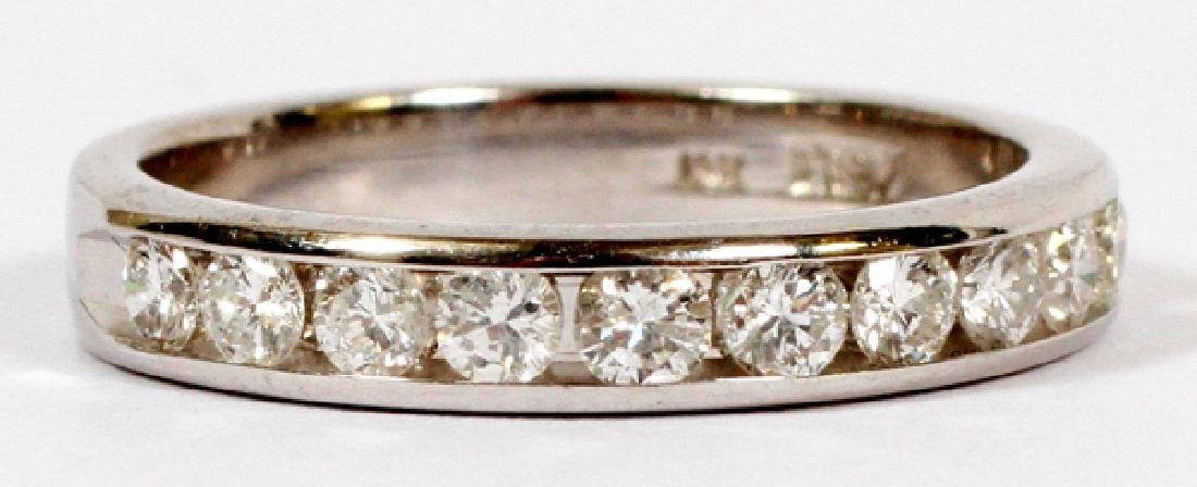 0.5CT DIAMONDS & 14KT WHITE GOLD BAND