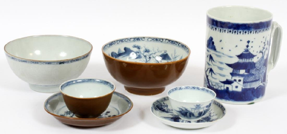 CHINESE CANTON PORCELAIN ARTICLES, 19TH C.