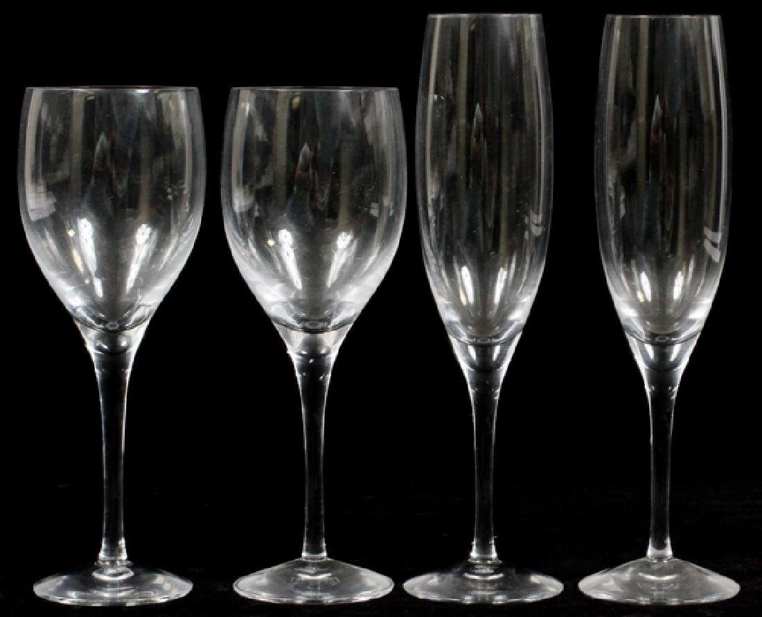 ORREFORS 'ILLUSION CLEAR' CRYSTAL GLASSES