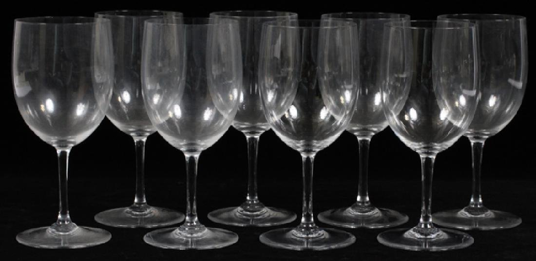 BACCARAT 'PERFECTION' CRYSTAL WATER GOBLETS, EIGHT