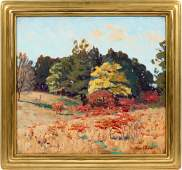 FRANK VIRGIL DUDLEY, OIL ON CANVAS INDIANA DUNES