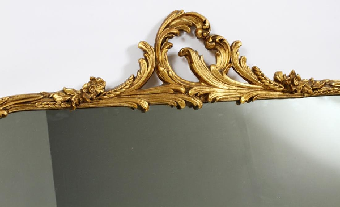"CARVED GILT WOOD AND GESSO MIRROR, H 33"", W 39"" - 2"