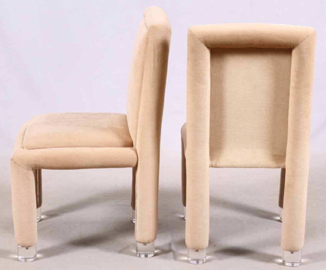 MODERN UPHOLSTERED SIDE CHAIRS, PAIR - 2