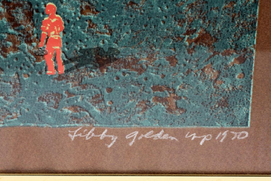 "LIBBY GOLDEN COLOR AQUATINT, 1970 ""THE FACTORY"" - 2"