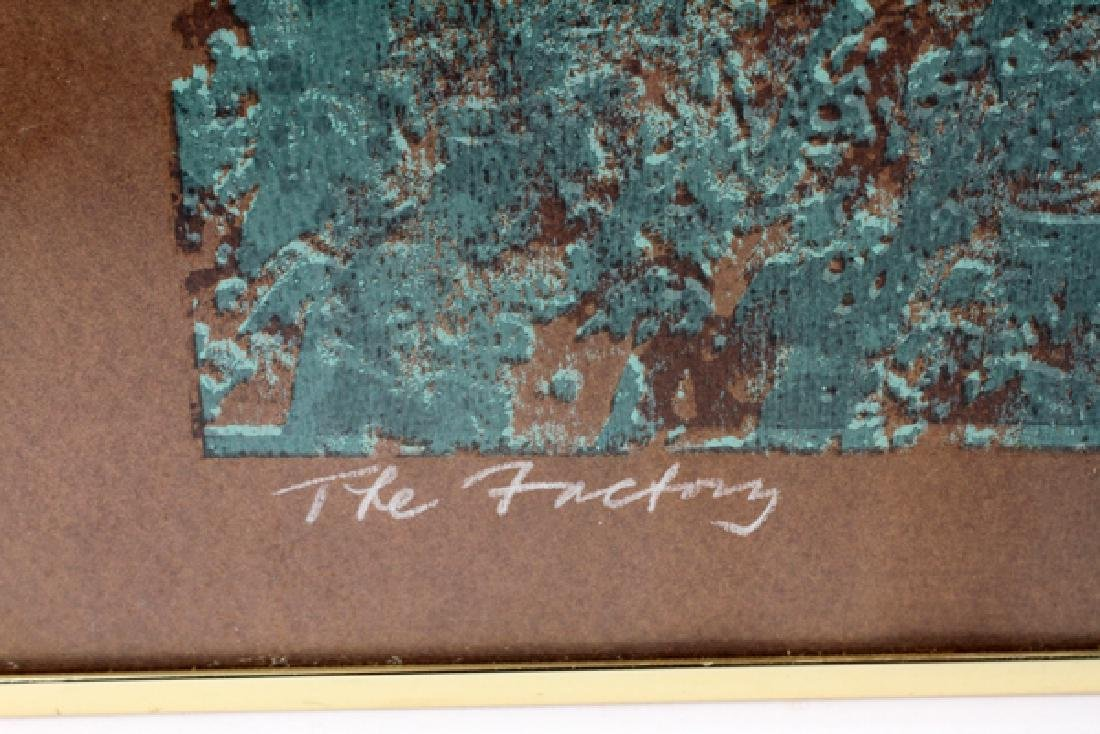 "LIBBY GOLDEN COLOR AQUATINT, 1970 ""THE FACTORY"" - 3"