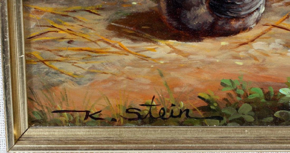 K. STEIN MODERN OIL ON WOOD PANEL - 2