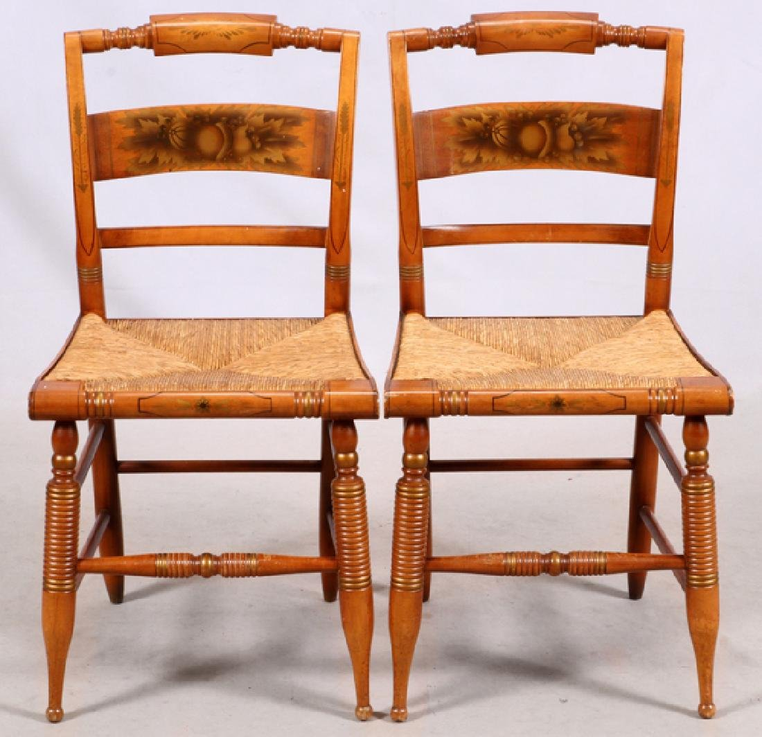 L. HITCHCOCK, SIDE CHAIRS, PAIR