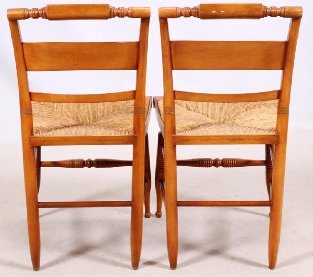 L. HITCHCOCK, SIDE CHAIRS, PAIR - 2