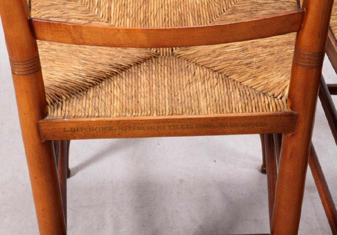 L. HITCHCOCK, SIDE CHAIRS, PAIR - 3