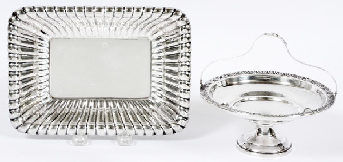 REED & BARTON WEIGHTED SILVER DISH & COMPOTE