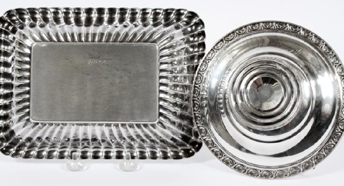 REED & BARTON WEIGHTED SILVER DISH & COMPOTE - 2
