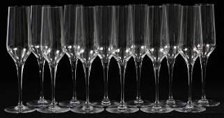 BACCARAT 'LAURENT PERRIER' GLASS CHAMPAGNE FLUTES