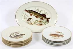BAYREUTH BAVARIA PORCELAIN FISH PLATES 11