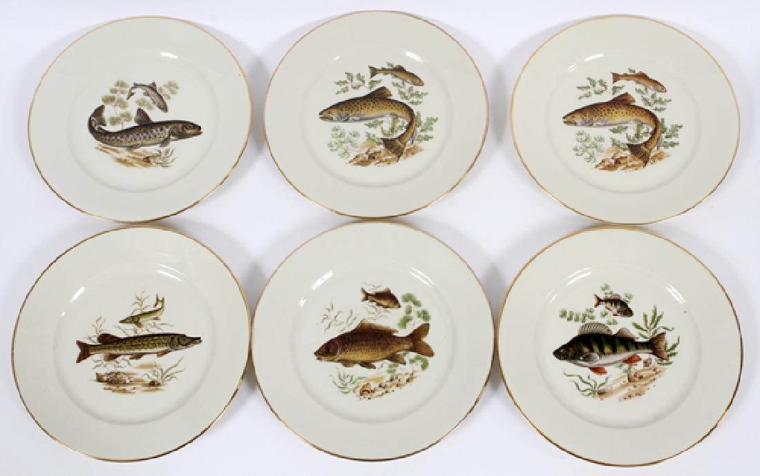BAYREUTH, BAVARIA PORCELAIN FISH PLATES 11 - 3