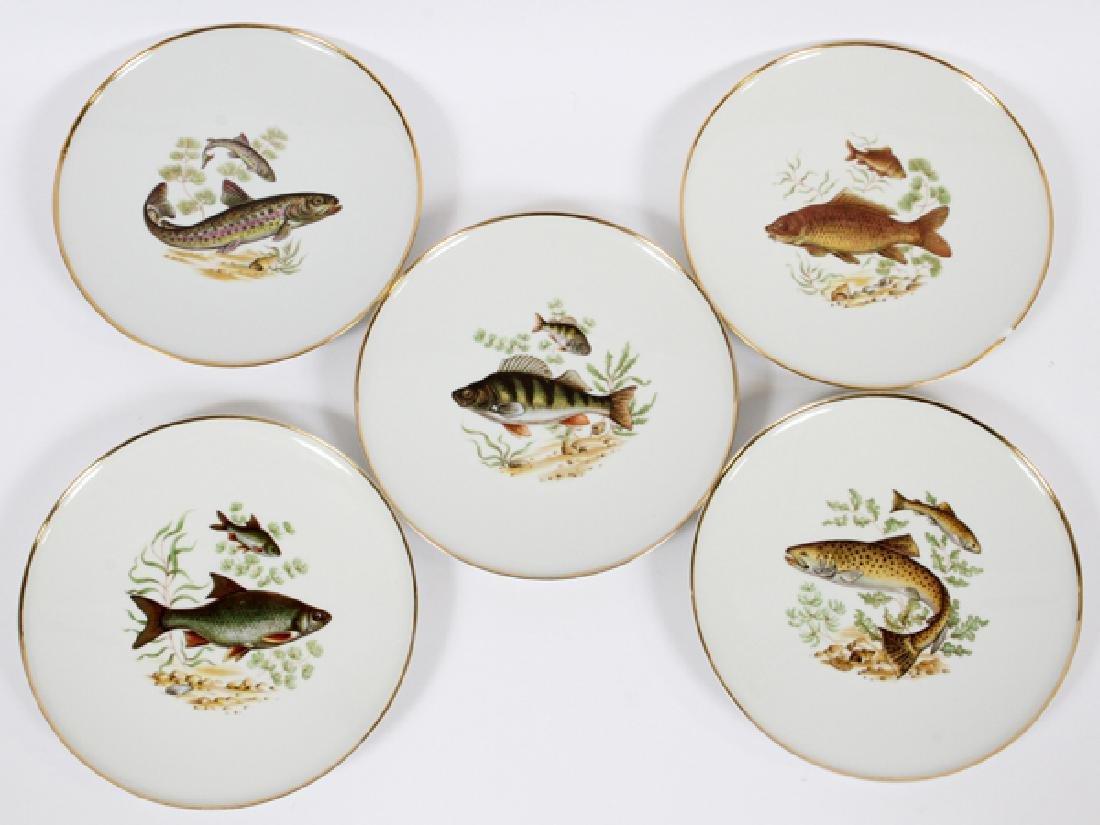 BAYREUTH, BAVARIA PORCELAIN FISH PLATES 11 - 5
