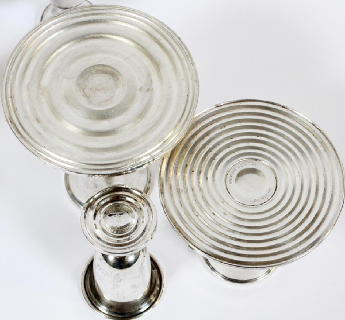 STERLING CANDLESTICKS & TOWLE STERLING GLASSES - 3
