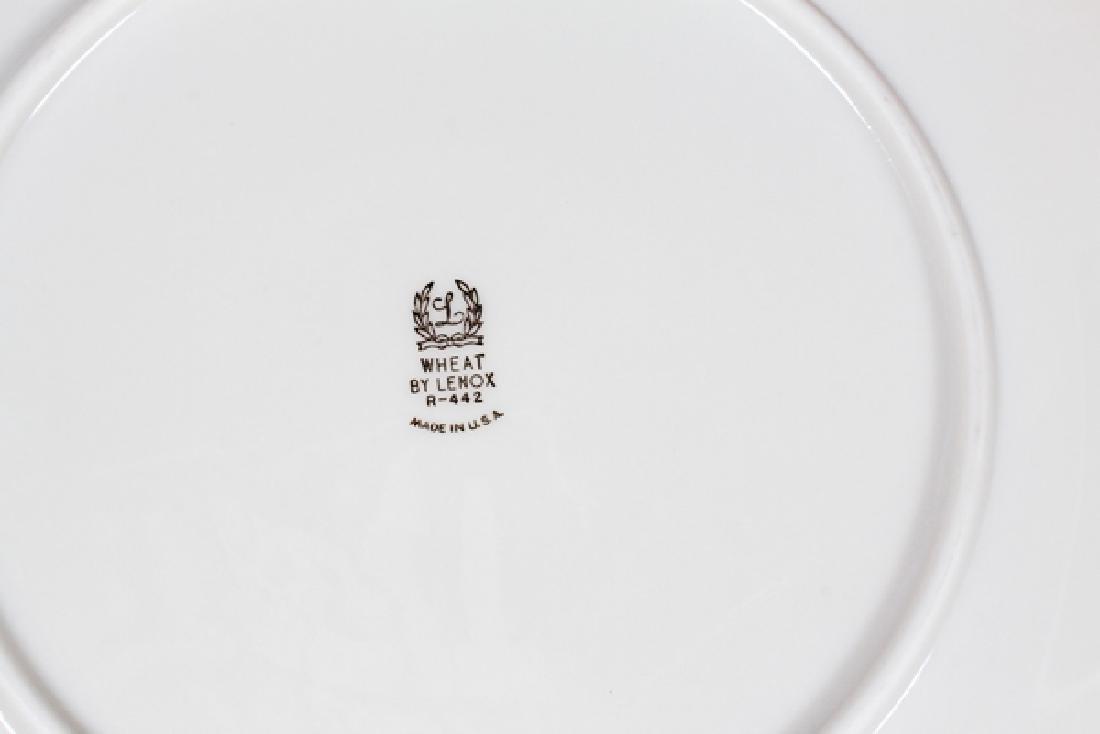 LENOX 'WHEAT' PORCELAIN DINNER SERVICE FOR 12 - 2