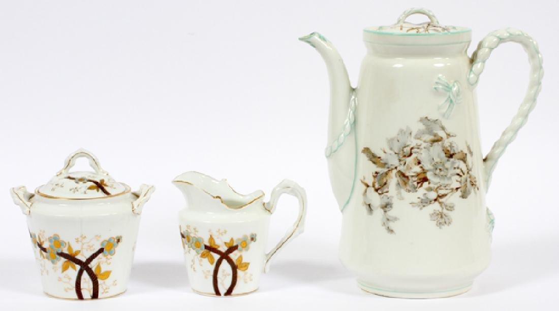 HAVILAND LIMOGES COFFEE POT CREAMER & SUGAR