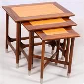 DANISH STYLE NESTING TABLES, 3
