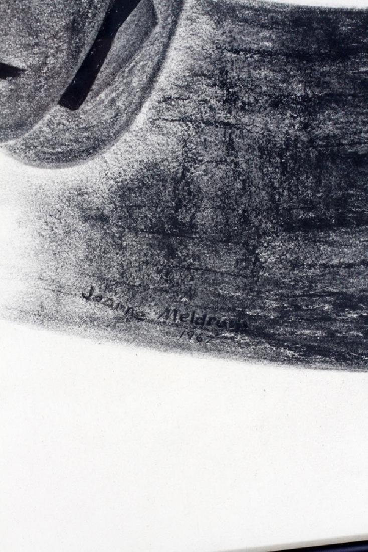 J. MELDRUM PRINT ON PAPER, C. 1967, AFRICAN MASKS - 2