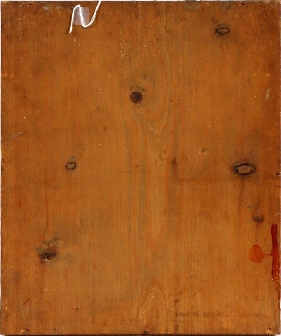 RUSSIAN LACQUERED WOOD ICON - 3