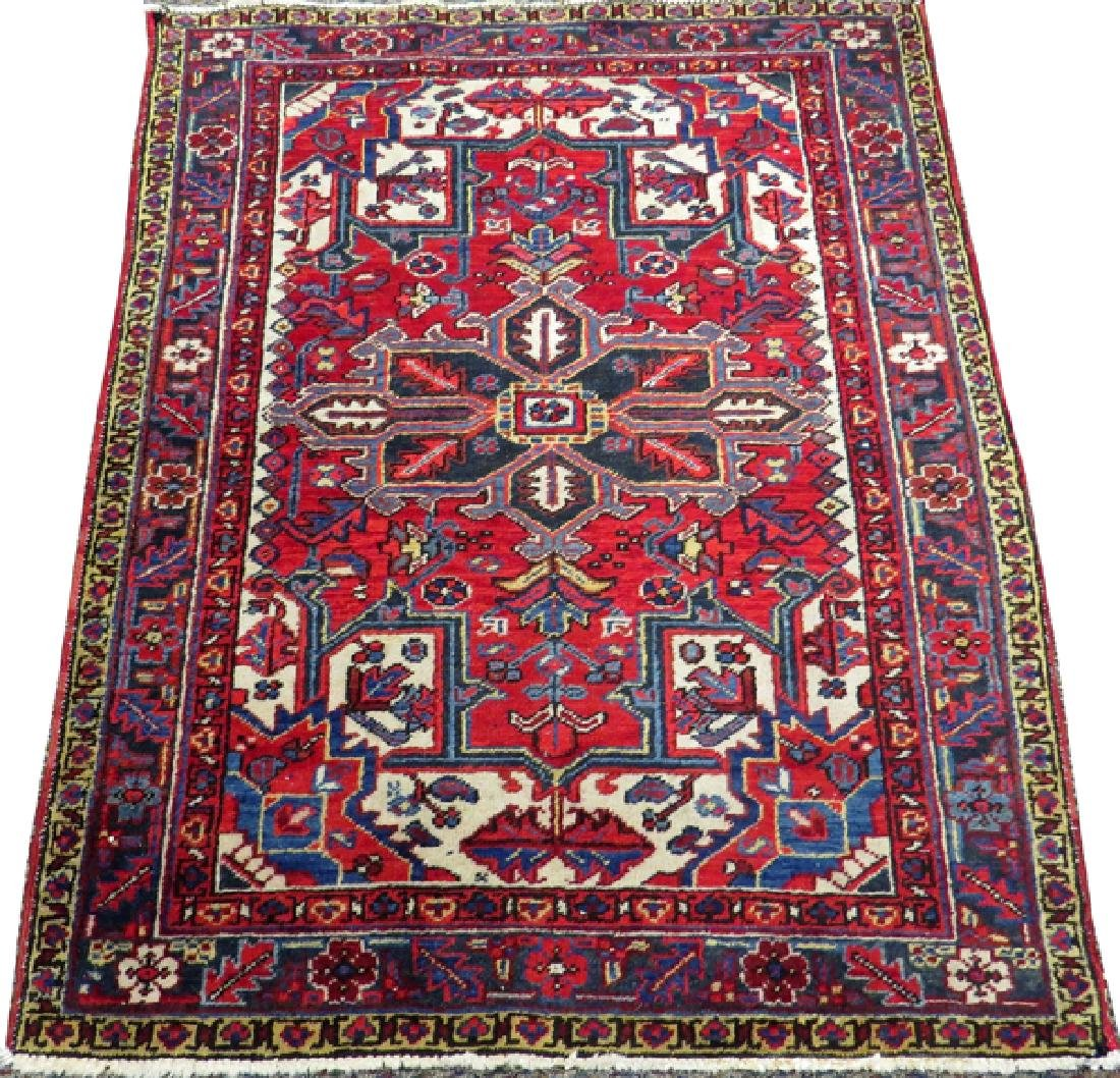 PERSIAN HERIZ HANDWOVEN WOOL RUG
