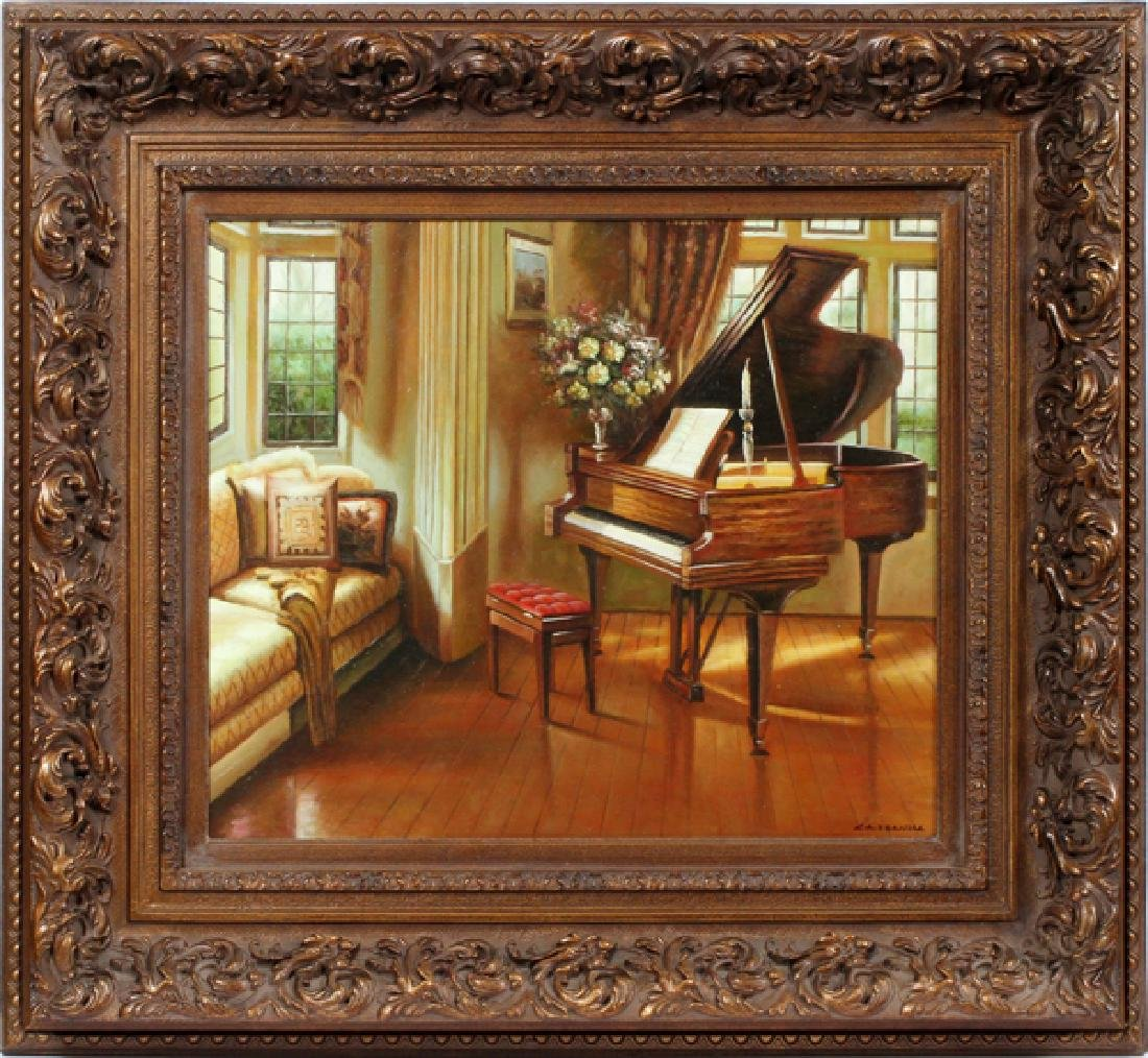 SIGNED CASSANDRA OIL PAINTING ON CANVAS