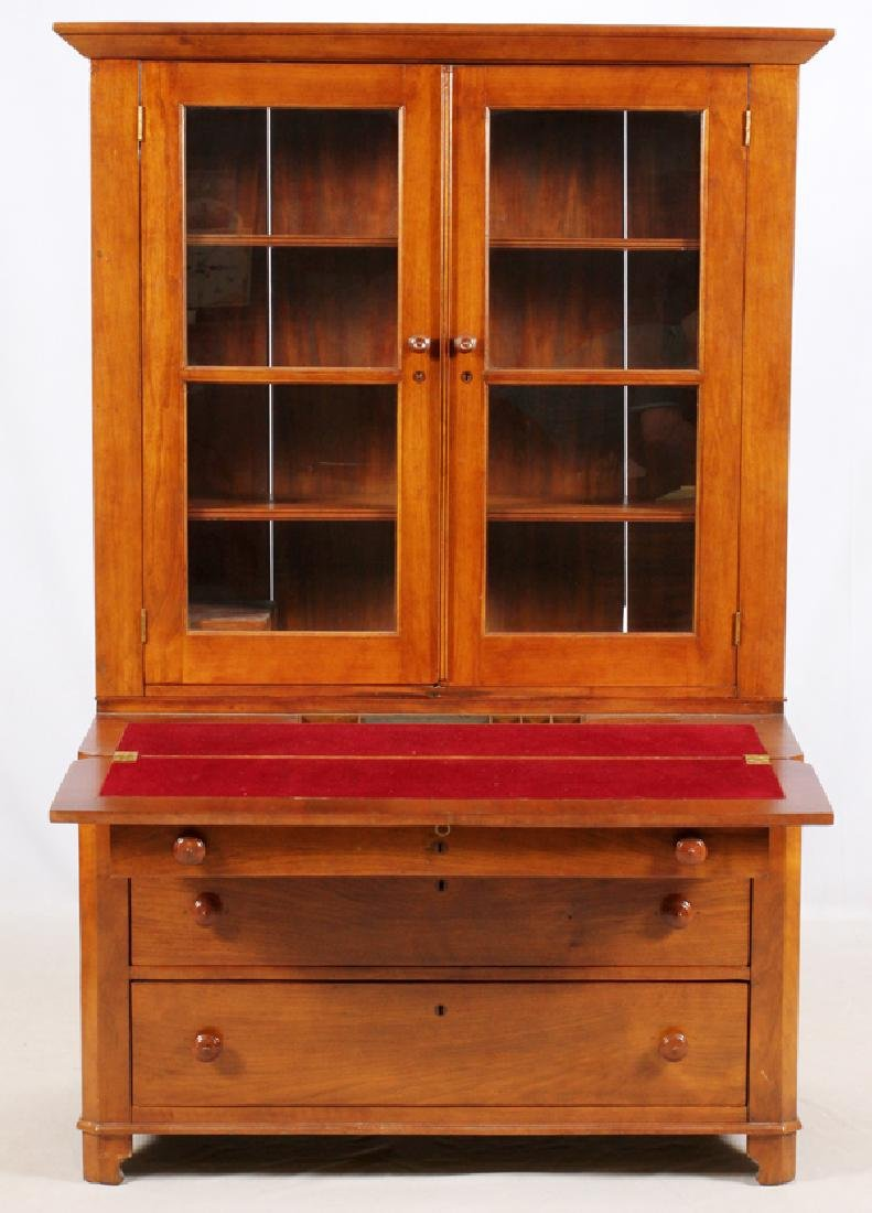 "OAK GLASS DOOR CHINA CABINET, H 77"", L 48"", D 22"" - 3"