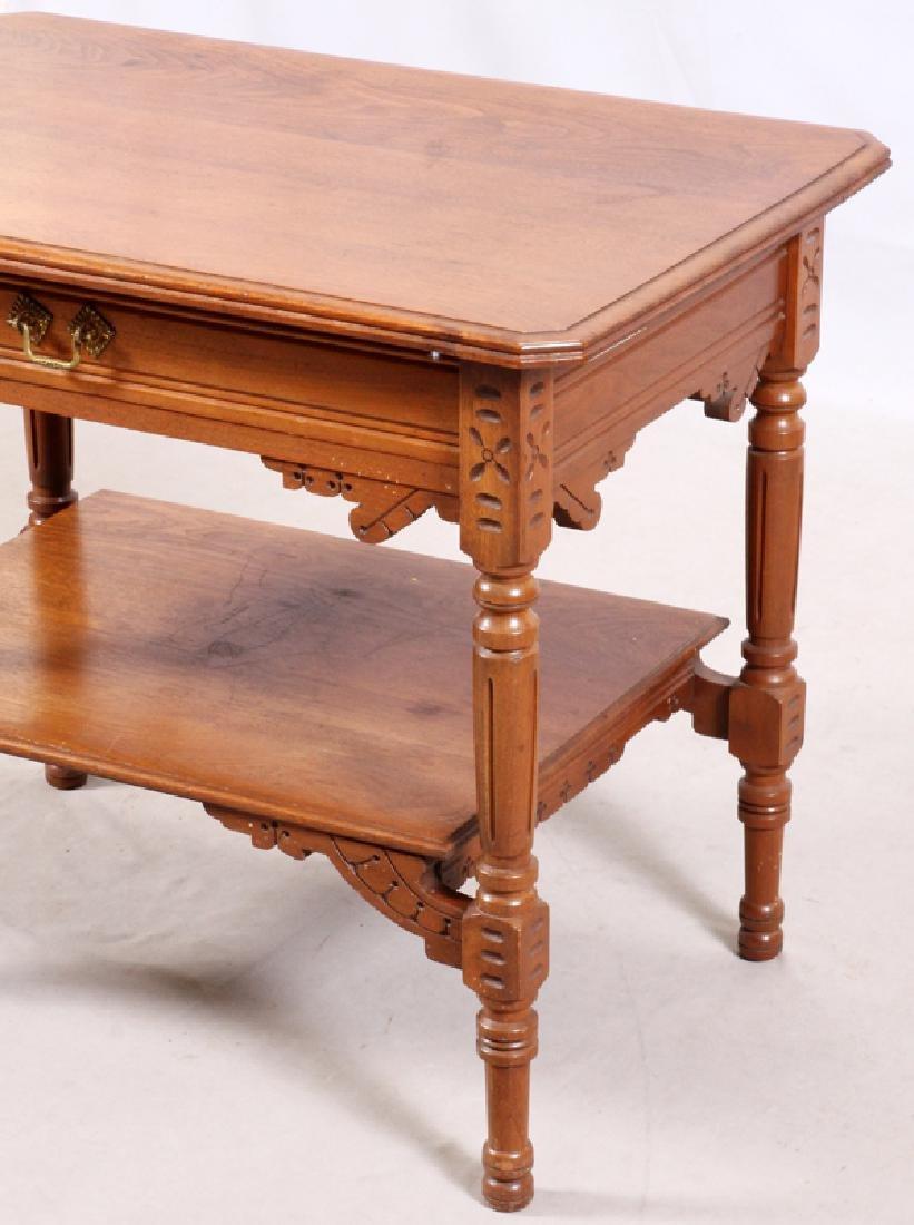 """VICTORIAN WALNUT SIDE TABLE, H 28"""", L 34"""", D 23"""" - 2"""